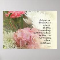 Serenity Prayer Bouquet Poster