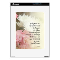 Serenity Prayer Bouquet Skin For The iPad