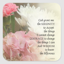Serenity Prayer Bouquet Square Sticker