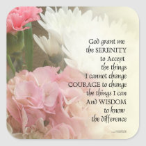 Serenity Prayer Bouquet Square Sticker