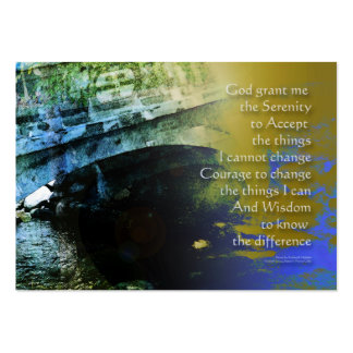 Serenity Prayer Bridge Abstract Large Business Cards (Pack Of 100)