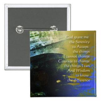 Serenity Prayer Bridge Abstract Button