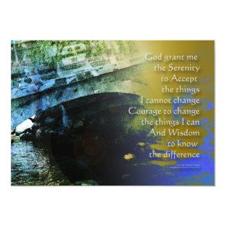 Serenity Prayer Bridge Abstract One 5x7 Paper Invitation Card