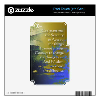 Serenity Prayer Bridge Abstract One iPod Touch 4G Decal