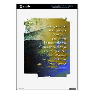 Serenity Prayer Bridge Abstract One Decals For iPad 3