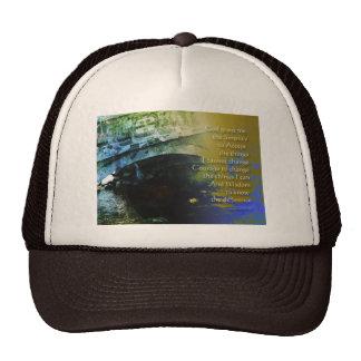 Serenity Prayer Bridge Abstract One Trucker Hat