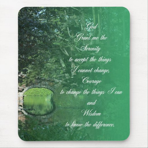 Serenity Prayer Bridge Mousepad
