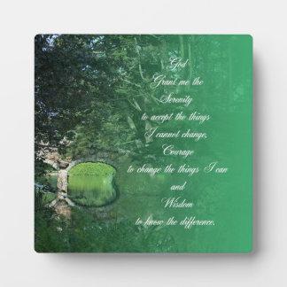 Serenity Prayer Bridge Display Plaque
