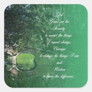 Serenity Prayer Bridge Square Sticker