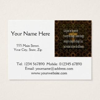 Serenity Prayer Business Card