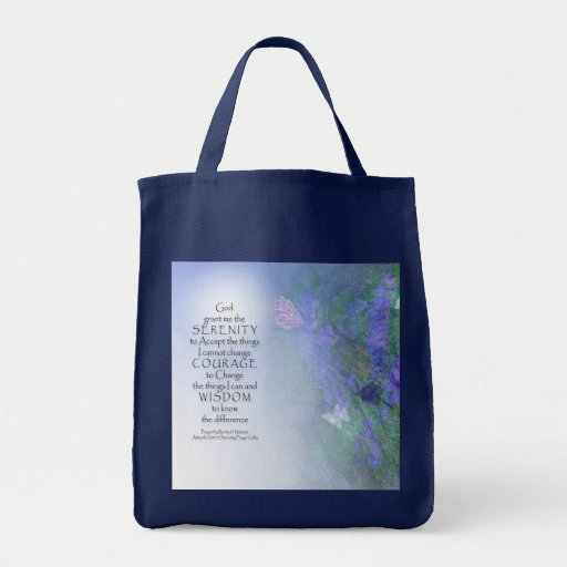 Serenity Prayer Butterflies & Vetch Bag