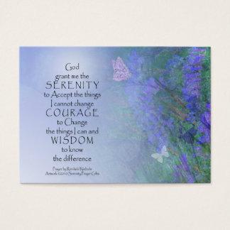 Serenity Prayer Butterflies & Vetch Business Card