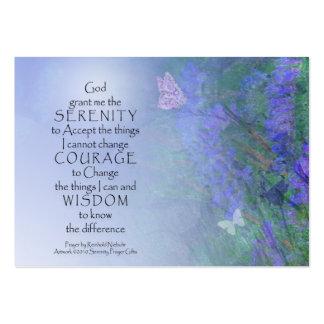Serenity Prayer Butterflies & Vetch Large Business Card