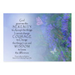 Serenity Prayer Butterflies & Vetch Large Business Cards (Pack Of 100)