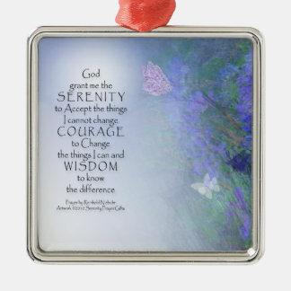 Serenity Prayer Butterflies & Vetch Metal Ornament