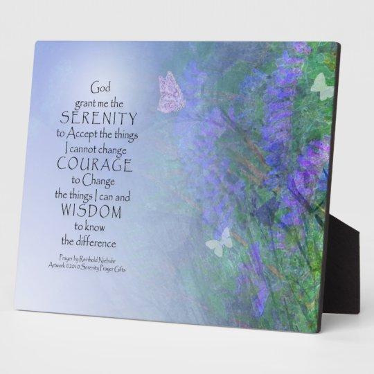 Serenity Prayer Butterflies & Vetch Plaque