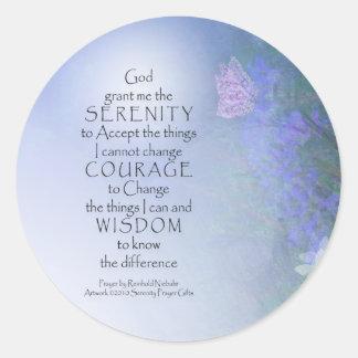 Serenity Prayer Butterflies & Vetch Sticker