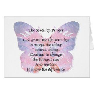 Serenity Prayer Butterfly2 Card