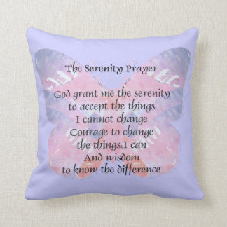 Serenity Prayer Butterfly 2 American MoJo Pillow