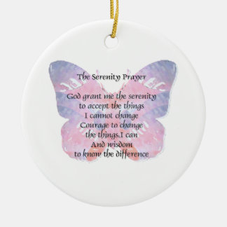 Serenity Prayer Butterfly 2 Ceramic Ornament