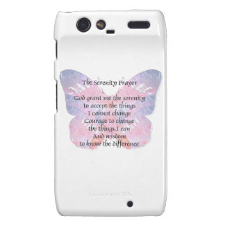 Serenity Prayer Butterfly 2 Droid RAZR Covers