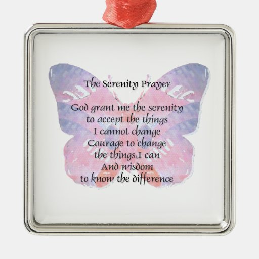 Serenity Prayer Butterfly 2 Ornaments