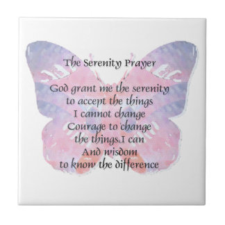 Serenity Prayer Butterfly 2 Tile