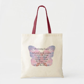 Serenity Prayer Butterfly Budget Tote Bag