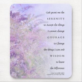 Serenity Prayer Butterfly Bush Mousepad