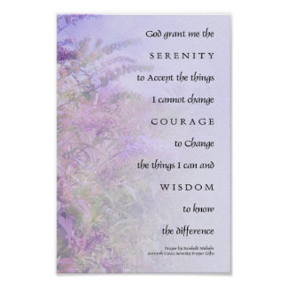 Serenity Prayer Butterfly Bush Poster