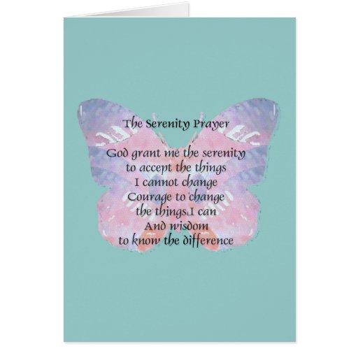 Serenity Prayer Butterfly Card