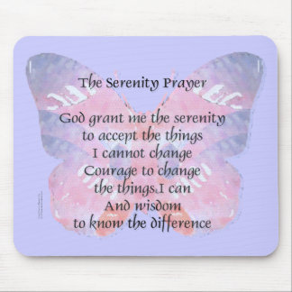 Serenity Prayer Butterfly Mouse Pad