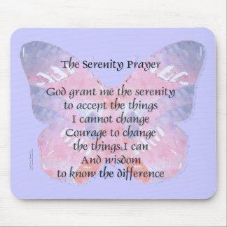 Serenity Prayer Butterfly Mousepads