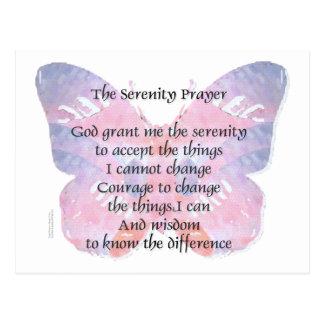 Serenity Prayer Butterfly Post Card