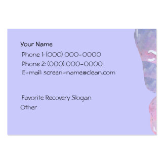 Serenity Prayer Butterfly Profile Card Business Card Template