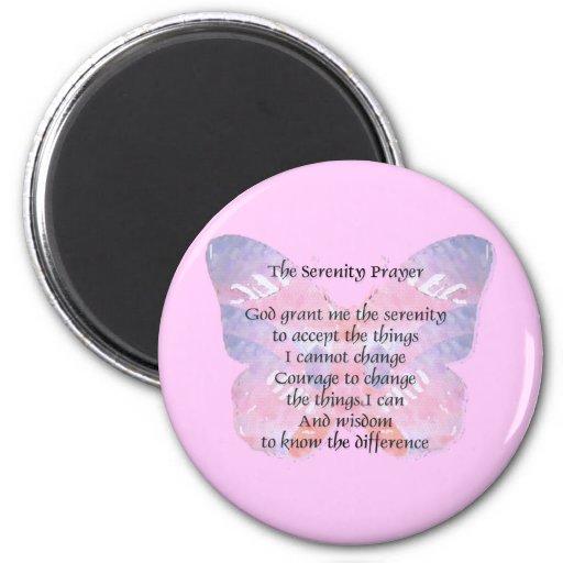 Serenity Prayer Butterfly Refrigerator Magnets