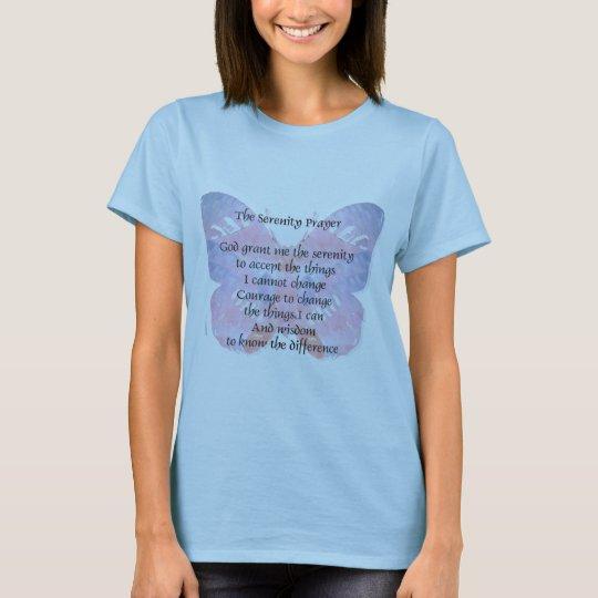 Serenity Prayer Butterfly T-Shirt