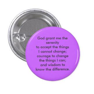Serenity prayer button