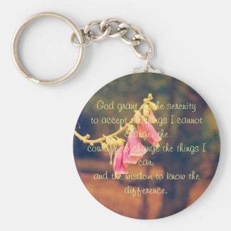 Serenity Prayer Button Keychain