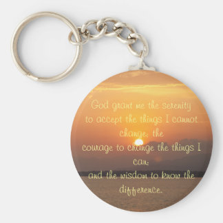 Serenity Prayer Button Keychain