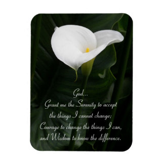 Serenity Prayer Calla Lily Magnet