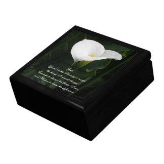 Serenity Prayer Calla Lily Photo Gift Box