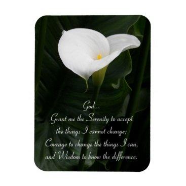 northwestphotos Serenity Prayer Calla Lily Photo Magnet