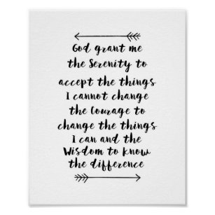 image about Serenity Prayer Printable named Serenity Prayer Calligraphy Print