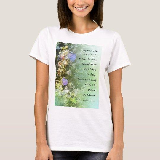 Serenity Prayer Campanula Bellflowers T-Shirt