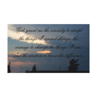 serenity prayer gallery wrapped canvas