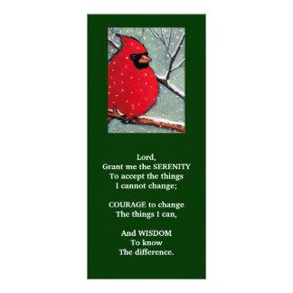 SERENITY PRAYER: CARDINAL, WINTER, BIRD ART RACK CARD
