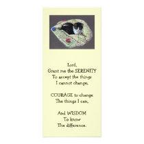 SERENITY PRAYER:CAT NAPPING: ART:RACK CARD