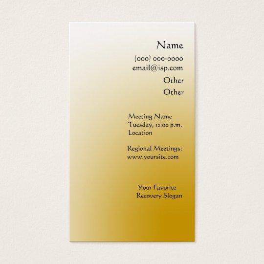 Serenity Prayer Cedars Business Card