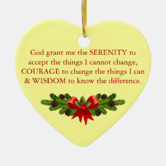 Serenity Prayer Ceramic Ornament